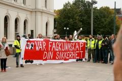 Streikemarkering Jernbanetorget