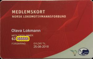 Medlemskort NLF merket
